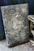 A large stone slab.
