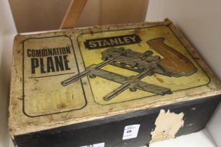 A Stanley combination plane, boxed.