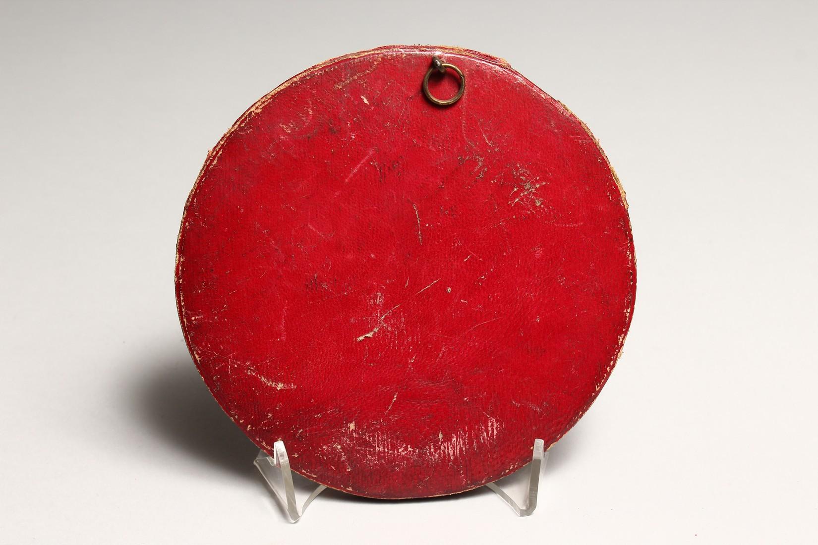 A LARGE ANTIQUE CIRCA 1810 ANDRIEU FECIT BRONZE CIRCULAR PLAQUE OF NAPOLEAN Signed 5.75ins - Image 2 of 2