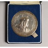 ST. HELENA AND ASENSION ISLAND NAPOLEON COMMERATIVE SILVER PROOF £25.00 IN A CASE, issued by the