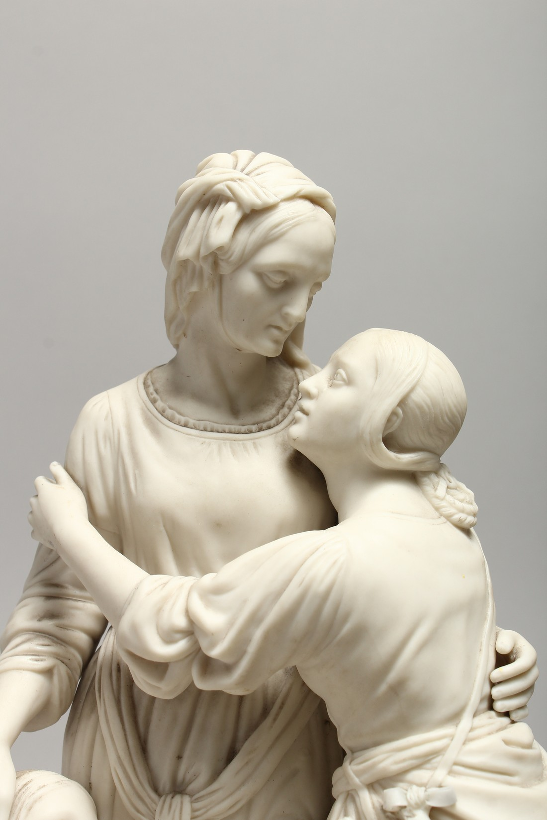 """A LATE 19TH CENTURY PARIAN WARE GROUP """"NAOMI AND HER DAUGHTER IN LAW"""". 13 ins high. - Image 2 of 8"""