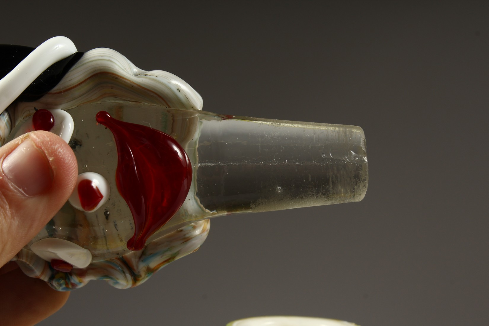 A MURANO MOTTLED YELLOW CLOWN BOTTLE AND STOPPER. 12ins high. - Image 7 of 9