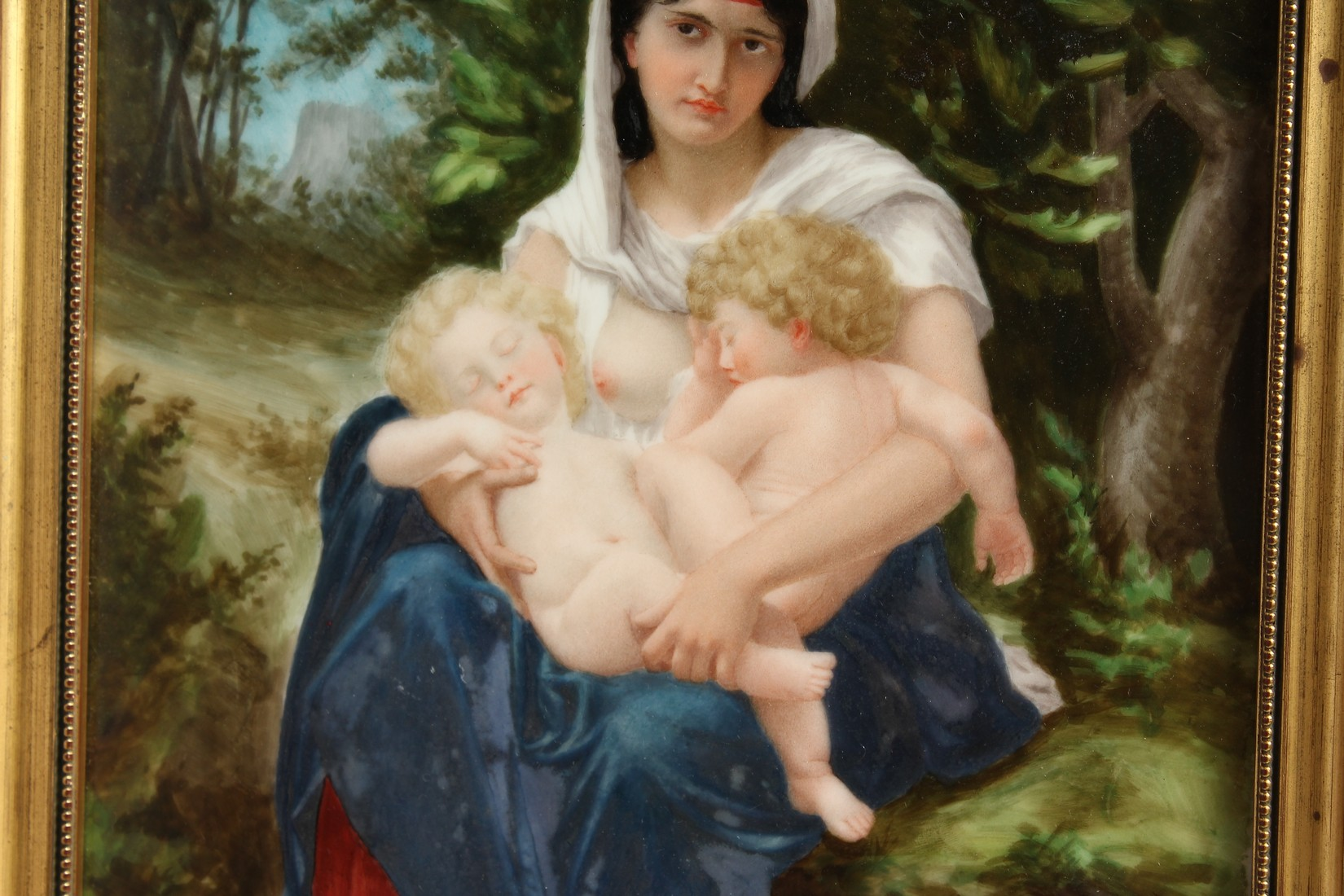 A VERY GOOD GERMAN PORCELAIN PLAQUE, Madonna and child 11.25 x 7.5ins - Image 4 of 7