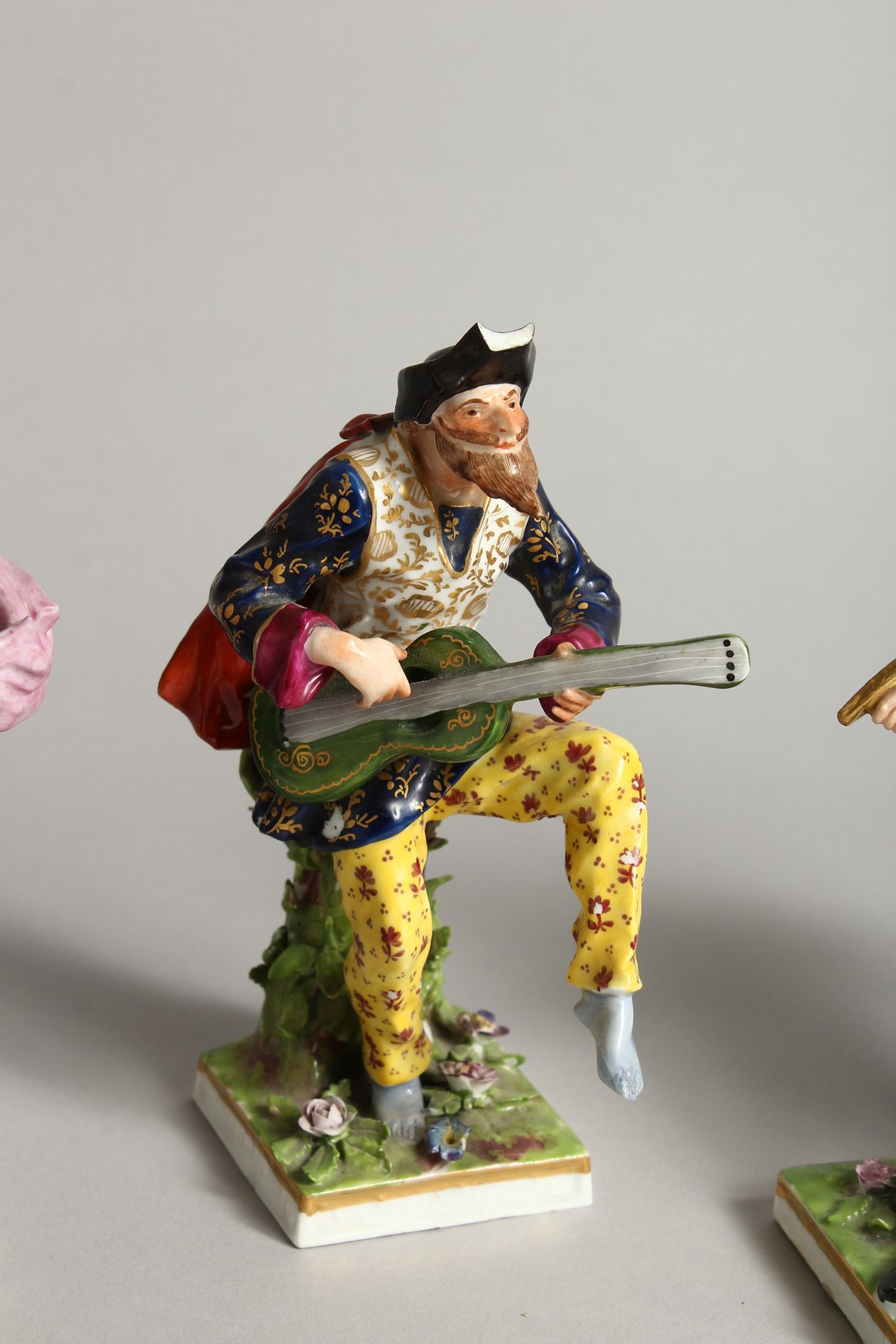 """A SET OF FOUR """"COMMEDIA DELL ARTE """" STYLE FIGURES, LATE 19TH CENTURY/EARLY 20TH CENTURY, possibly by - Image 4 of 9"""