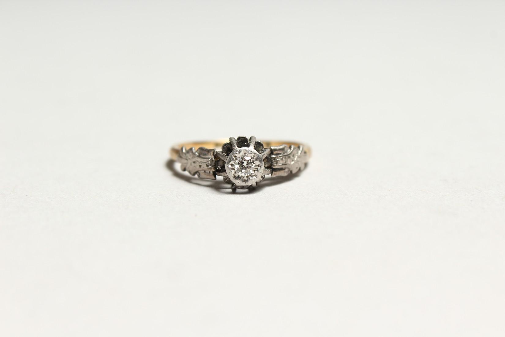 A GOOD 18CT GOLD DIAMOND SET RING - Image 2 of 5
