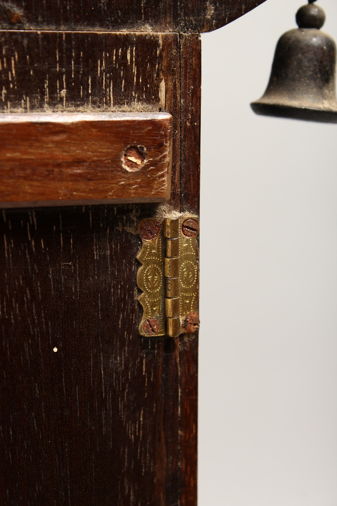 A GOOD GEORGIAN DESIGN CHINESE STYLE, SHOW CASE with Pagoda top hung with bells 20ins high, 8ins - Image 5 of 6