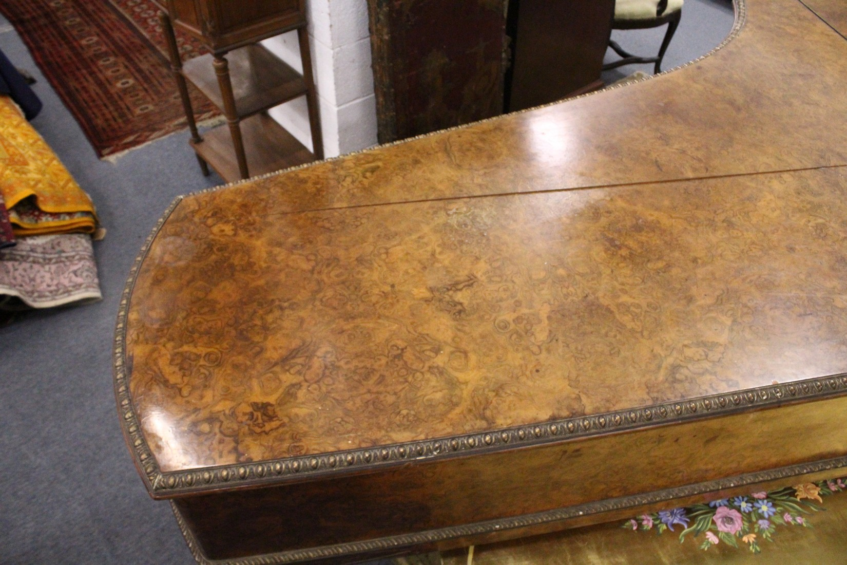 JOHN BROADWOOD & SONS, A good late 19th Centruy figured walnut Grand Piano, on turned and tapering - Image 10 of 19