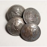 FOUR NAPOLEONIC BUTTONS