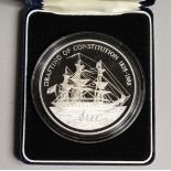 PITCAIRN ISLAND 150 ANNIVERSARY OF THE CONSTITUTION, 1938 - 1988 $50.00 SILVER PROOF COMMEMORATIVE