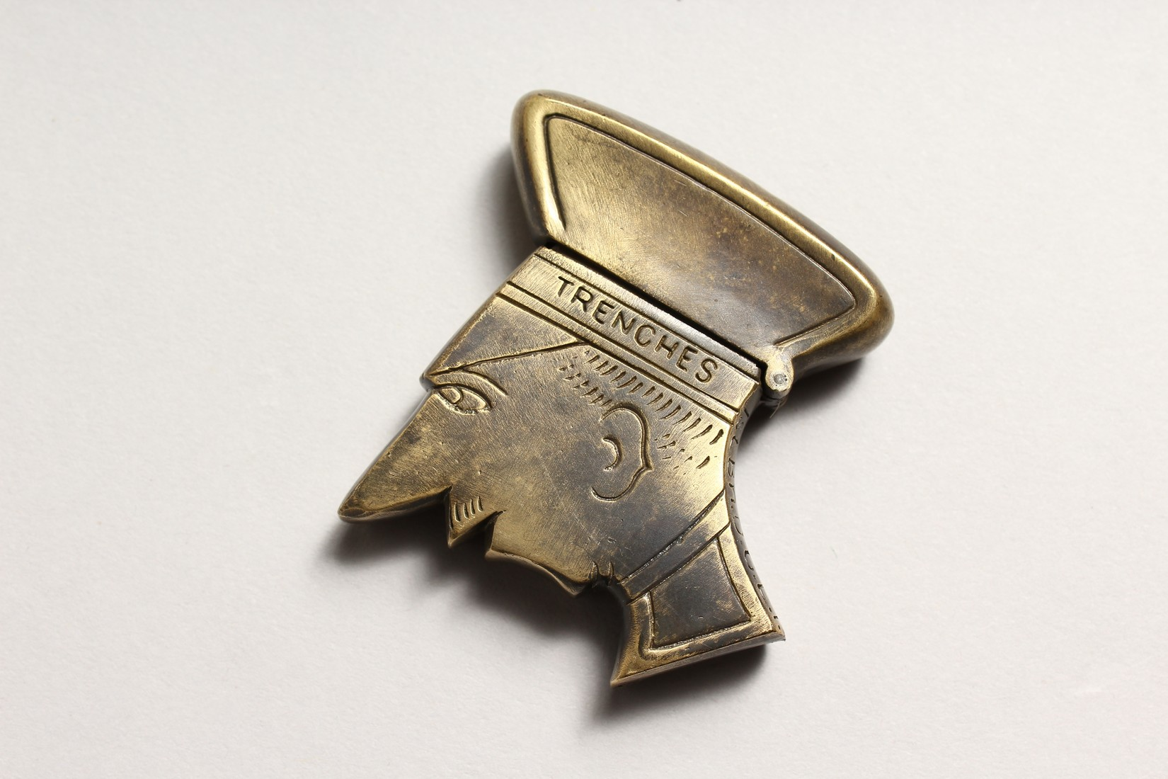 A FIRST WORLD WAR BRASS REPLICA YPRES VESTA CASE 2ins long. - Image 2 of 3