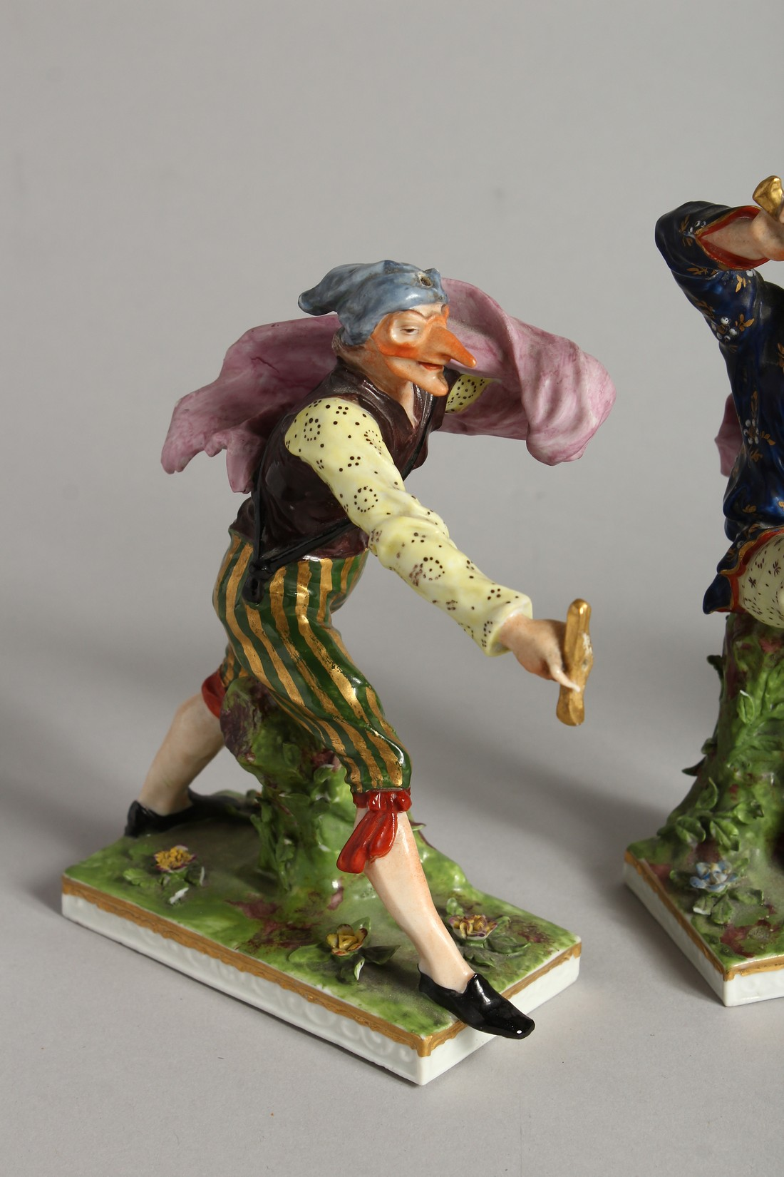 """A SET OF FOUR """"COMMEDIA DELL ARTE """" STYLE FIGURES, LATE 19TH CENTURY/EARLY 20TH CENTURY, possibly by - Image 2 of 9"""