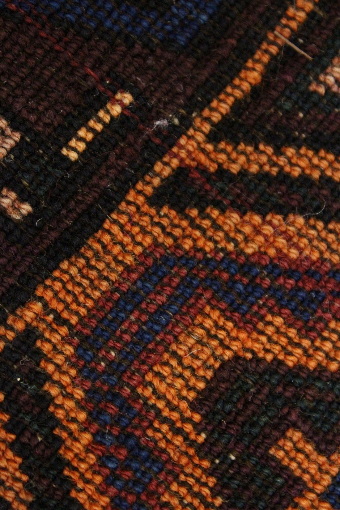 A BELUCHI PRAYER RUG, rust ground with stylised geometric design 5ft x 3ft 5ins - Image 3 of 4