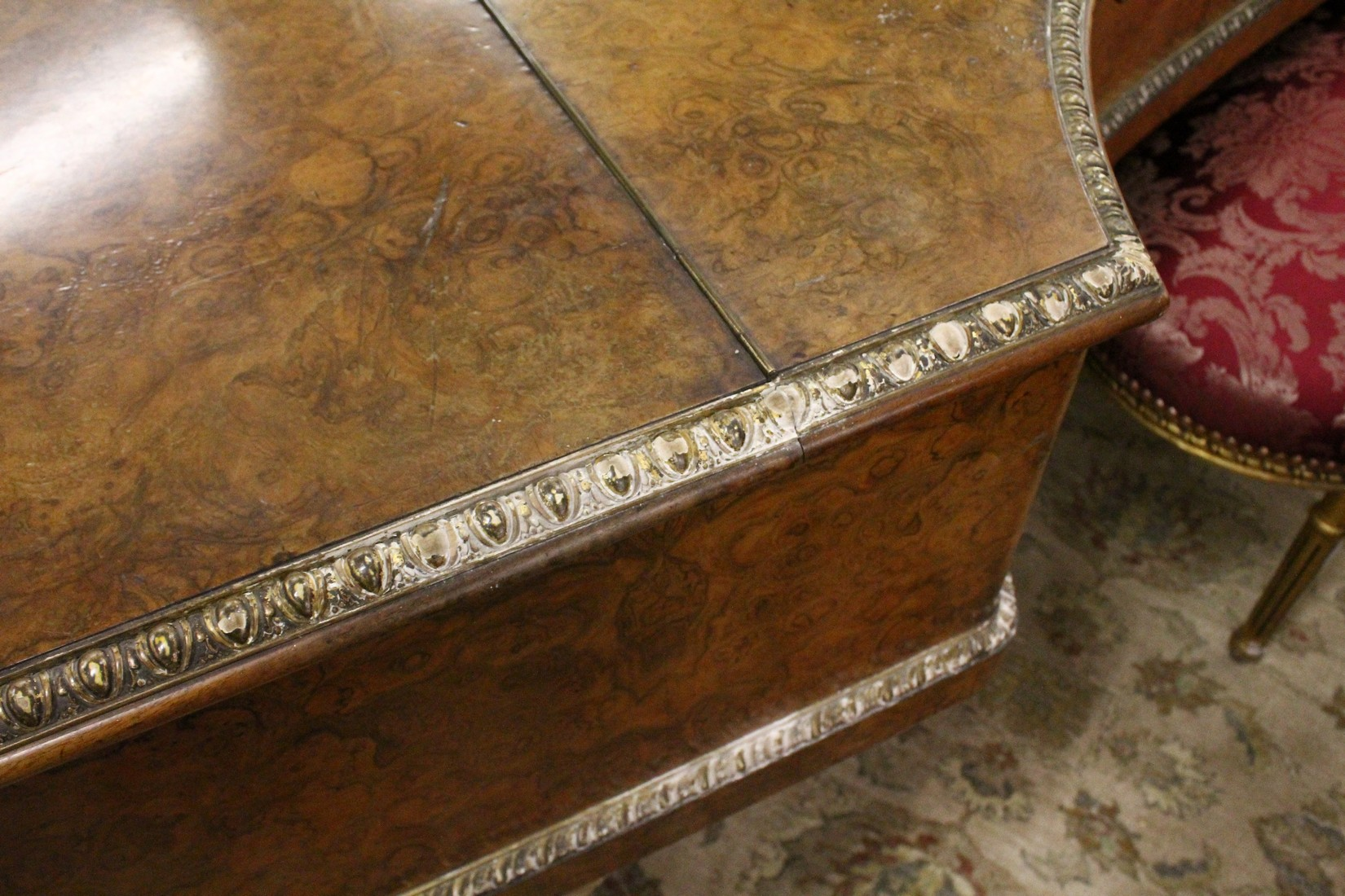 JOHN BROADWOOD & SONS, A good late 19th Centruy figured walnut Grand Piano, on turned and tapering - Image 8 of 19