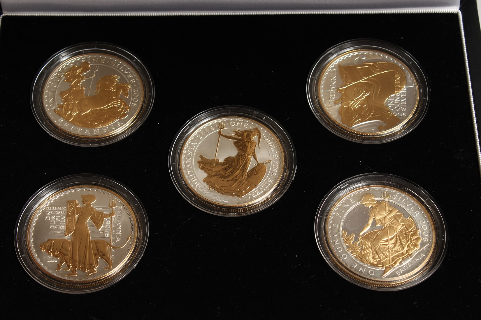 THE 2006 BRITAINNIA SILHOUETTE COLLECTION, silver and gold proof set, no. 0191 of 3000 issued with