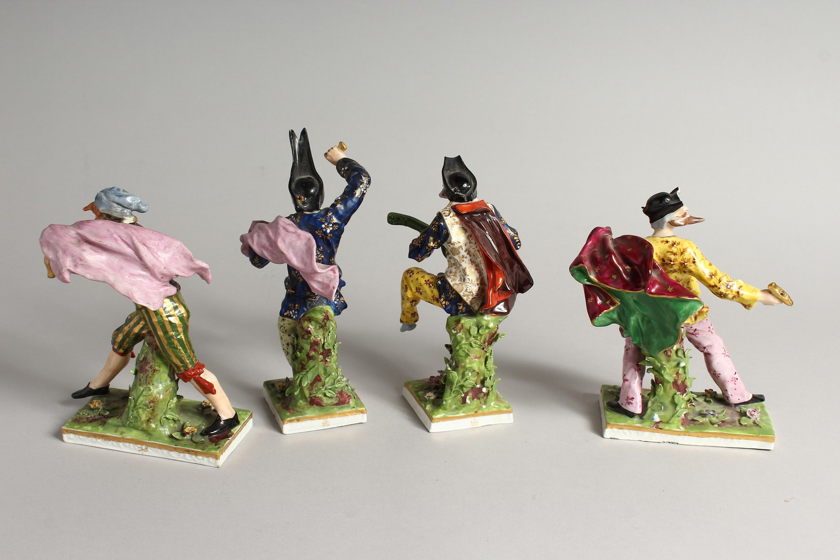 """A SET OF FOUR """"COMMEDIA DELL ARTE """" STYLE FIGURES, LATE 19TH CENTURY/EARLY 20TH CENTURY, possibly by - Image 6 of 9"""