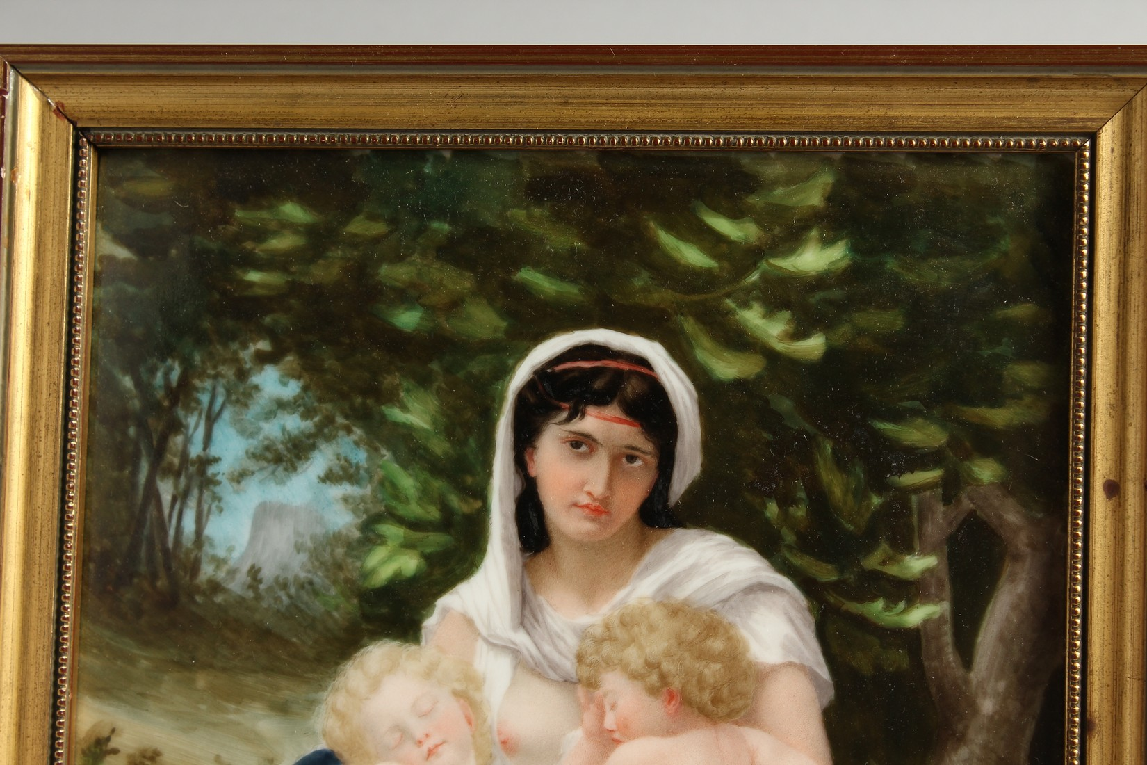 A VERY GOOD GERMAN PORCELAIN PLAQUE, Madonna and child 11.25 x 7.5ins - Image 3 of 7