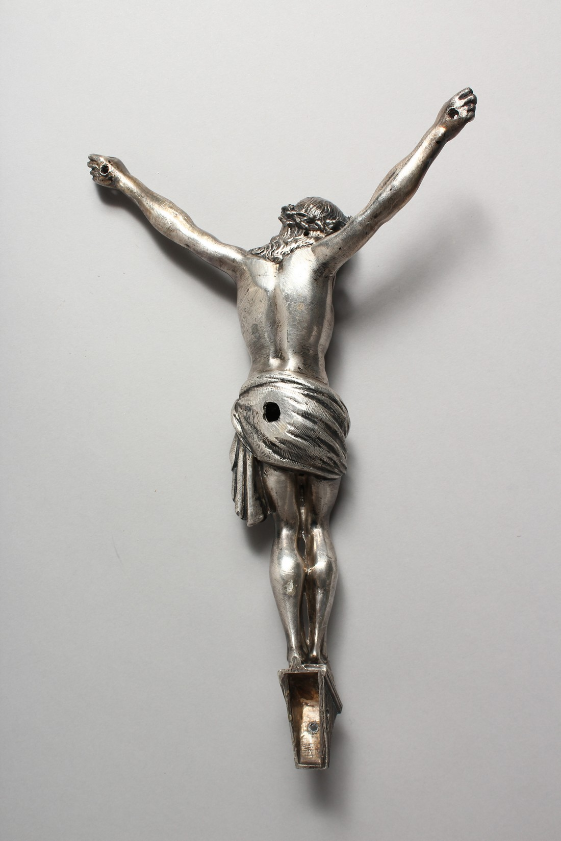 A CAST AND SILVER PLATED CORPUS CHRISTI 12ins high - Image 2 of 3