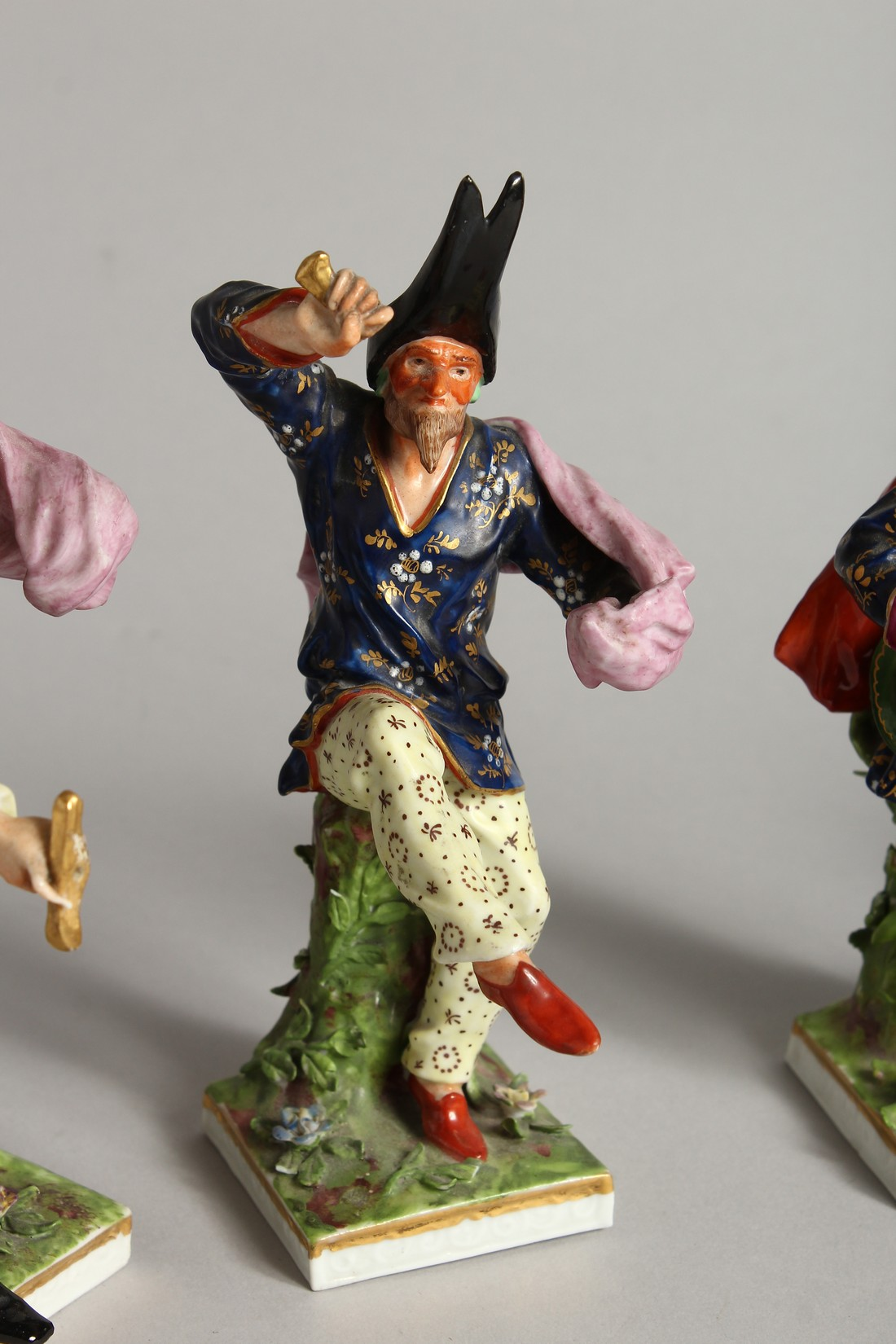 """A SET OF FOUR """"COMMEDIA DELL ARTE """" STYLE FIGURES, LATE 19TH CENTURY/EARLY 20TH CENTURY, possibly by - Image 3 of 9"""