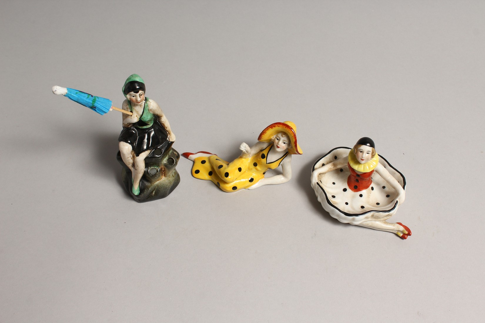 THREE CONTINENTAL PIN BATHER DOLLIES. - Image 2 of 3