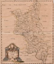 """A Robert Morden hand coloured Map of Buckinghamshire 17"""" x 15"""", along with an 18th Century map of"""