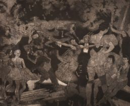 Cathal Brendan O'Toole, Irish/American, 'Dancers 1939', etching, signed and inscribed in pencil, 8.