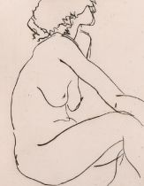 """Brian Blow, """"Leah Weeping"""", etching, artist's proof, initialled and dated in pencil, 7"""" x 5"""""""