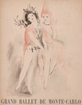 """After Marie Laurencin, a lithograph of 'Grand Ballet de Monte Carlo' 11.5"""" x 8.5"""", along with a"""