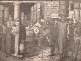 Miles Balmford Sharp, 'Covent Garden' lithograph, signed and inscribed in pencil, along with 3 other
