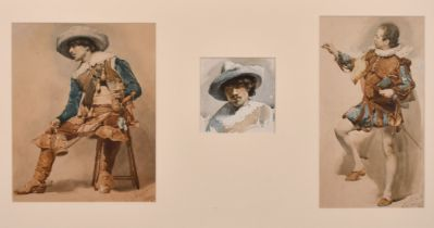 William Mainwaring Palin, A collection of three studies of an Italian Cavalier, housed in a single