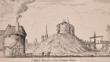 A boxed lot of engravings of English views (Q).