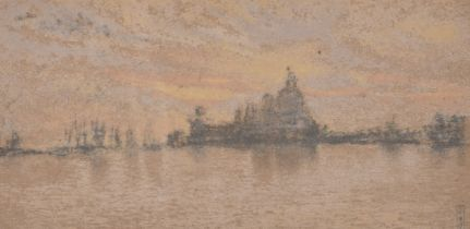 """After Whistler, a group of three lithographs of Venice scenes from The Studio publication, 4.5"""" x"""