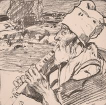 A group of five lithographs from The Studio magazine, after Brangwyn, West, Forain and other, all