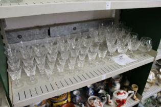 A quantity of Stuart cut glass drinking glasses.