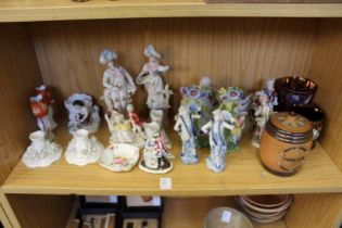 A Doulton tobacco jar and other decorative china.