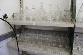 A quantity of 19th century and later drinking glasses etc.