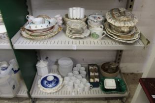 Royal Crown Derby, floral decorated teacups and saucers and other decorative china.