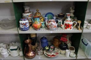 A quantity of decorative china and other items.