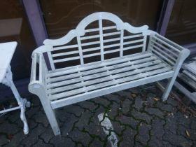 A Lutyens style garden bench.