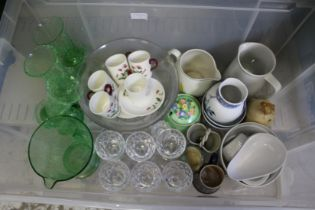 Decorative china and glass.