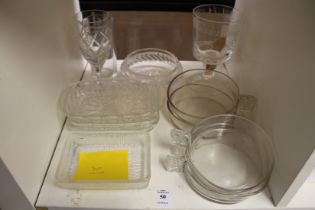 A small group of glassware.