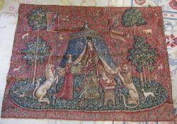Metrax Belgian tapestry 'To my only desire' 135 cm x 180 cm