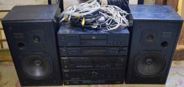 Tecknics stack system (no turntable) - SU-Y102 amplifier, Digital Space Control SH-E85, Tuner