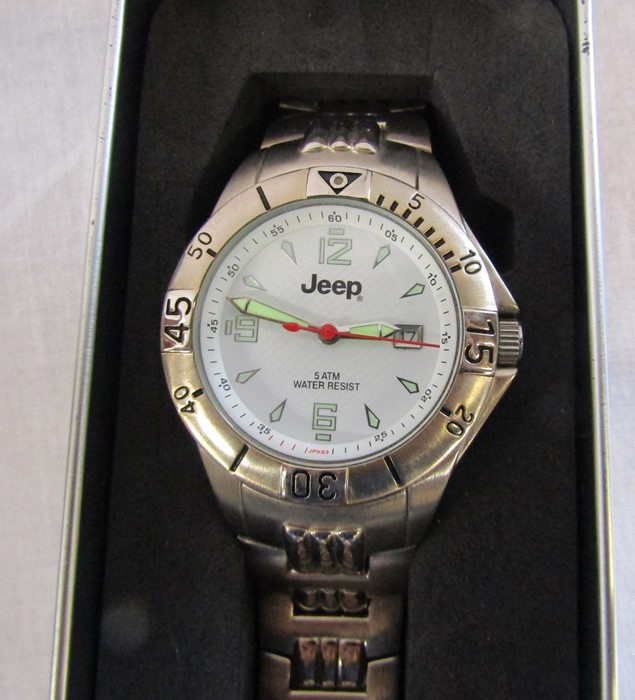 4 boxed Gents wrist watches - Jeep, Swiss active, Rotary and Guess chronograph - Image 5 of 5