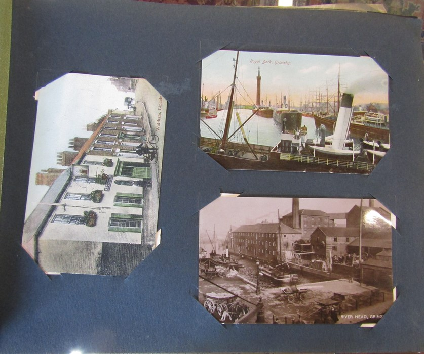 Classic Series Album of postcards mainly Gainsborough, Cleethorpes & Grimsby including Royal Visit - Image 5 of 12