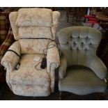 Royams electric recliner chair (purchased in October 2020 for £1445) & a modern button back chair