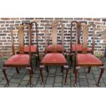 4 + 2 Queen Anne style mahogany dining chairs