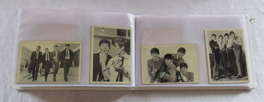Album containing 59 The Beatles A & B C chewing gum cards with facsimile autographs, sealed The - Image 2 of 5