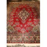 "Large ""Kandahar"" Louis de Poortiere (Belgium) Persian wool rug 369 cm x 274 cm"