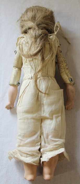Armand Marseille bisque head doll marked AM-8 with kid leather body, bisque limbs, sleeping eyes, - Image 9 of 9
