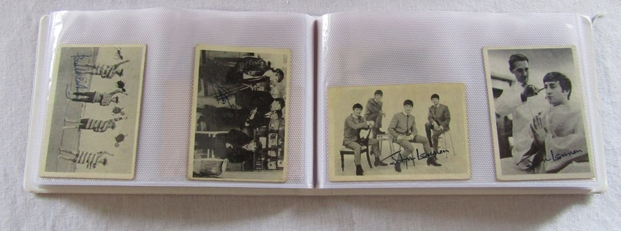 Album containing 59 The Beatles A & B C chewing gum cards with facsimile autographs, sealed The - Image 4 of 5